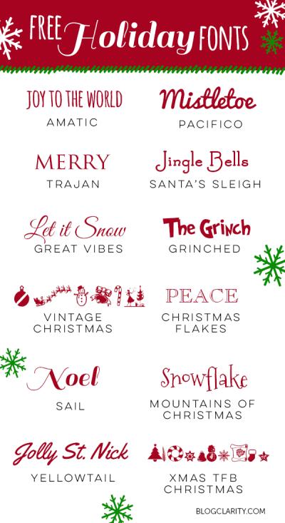 クリスマス向けフォント